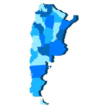 Political map of Argentina. Vector illustration design