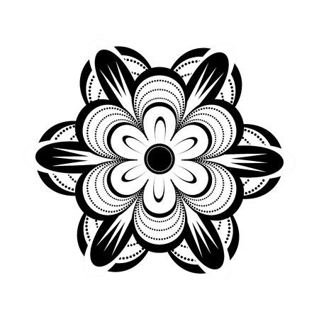 Isolated monochrome flower icon. Vector illustration design Illustration