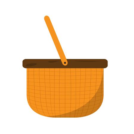Isolated empty basket picnic icon. Vector illustration design