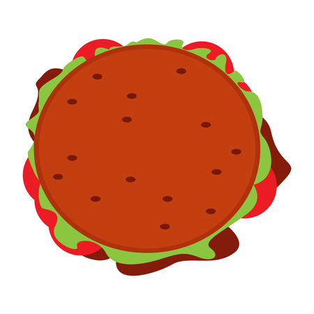 Isolated burger icon