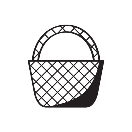 Empty picnic basket sketch
