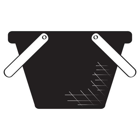Picnic basket silhouette  イラスト・ベクター素材