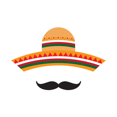 Traditional mexican hat  イラスト・ベクター素材