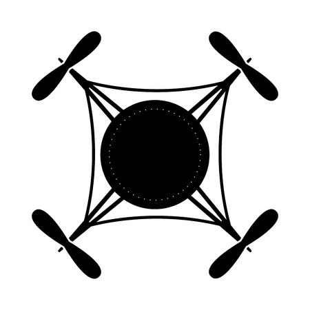 Drone toy silhouette icon