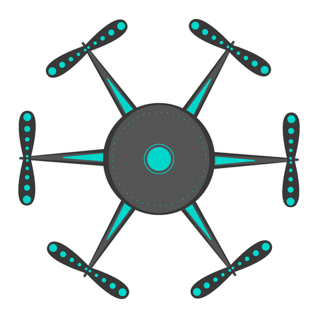 Isolated drone toy icon Ilustração