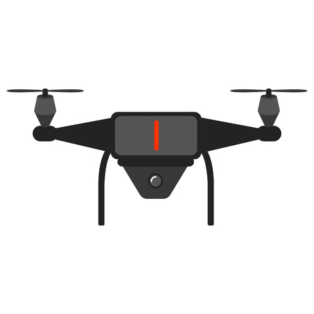 Isolated drone toy icon Illustration