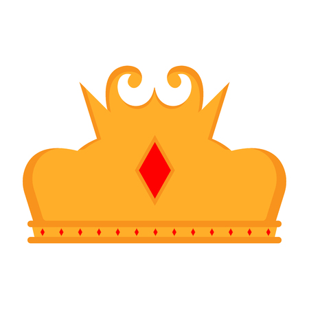 Isolated golden crown icon. Vector illustration design 向量圖像