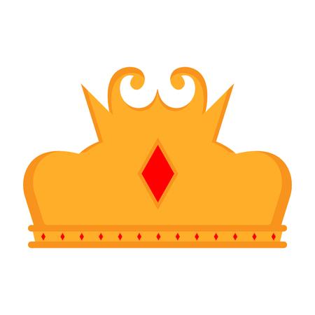 Isolated golden crown icon. Vector illustration design Illustration