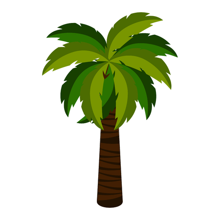 Isolated palm tree icon. Vector illustration design
