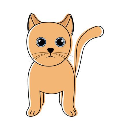 Cute cat icon sketch