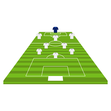 Front view of a soccer field