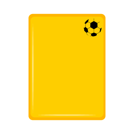 Isolated yellow card icon