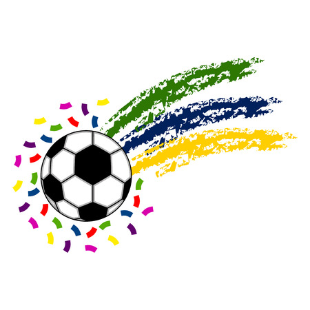 Soccer ball with the flag of Brazil 矢量图像