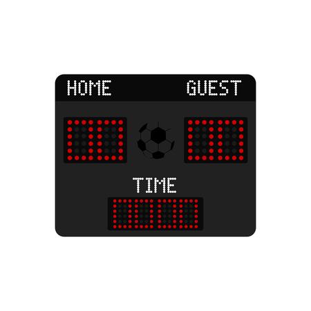 Isolated soccer scoreboard icon