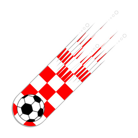 Soccer ball with the flag of Croatia