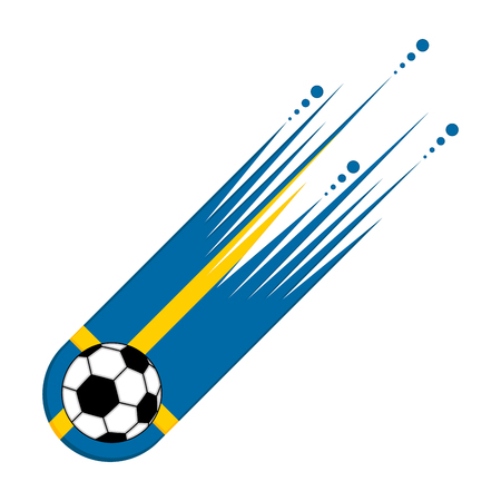 Soccer ball with the flag of Sweden Illustration