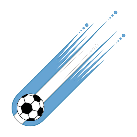 Soccer ball with the flag of Argentina