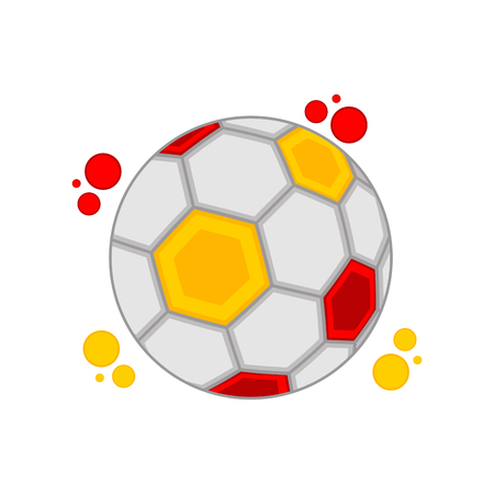 Soccer ball with the colors of Spain
