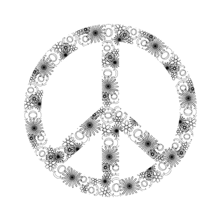 Isolated abstract peace symbol Illustration