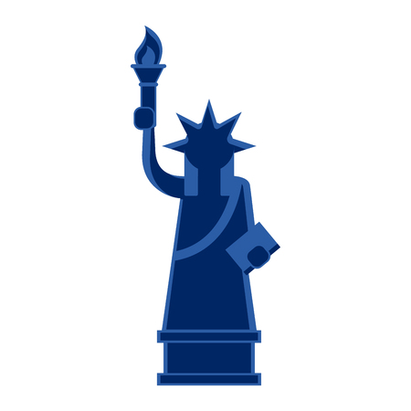 Isolated icon of the statue of liberty