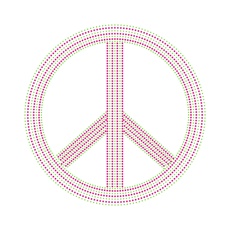 Isolated colored peace symbol