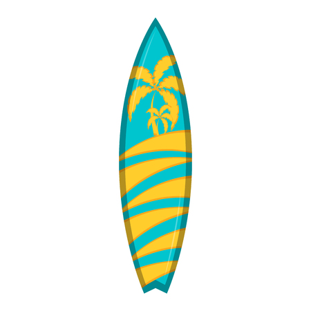 Isolated surfboard icon