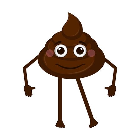 Happy poop emoji 向量圖像