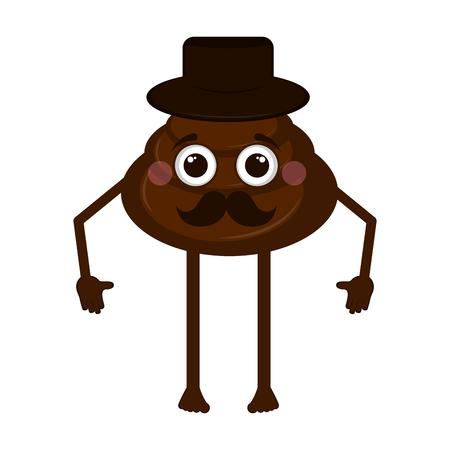 Isolated poop emoji