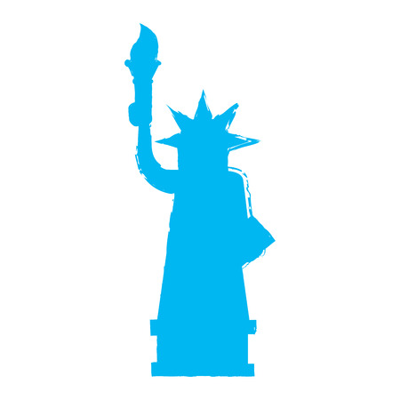 Retro silhouette of the statue of liberty