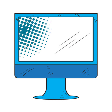 Retro monitor screen icon Banco de Imagens - 103105906