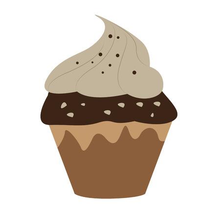 Isolated cupcake icon Ilustração