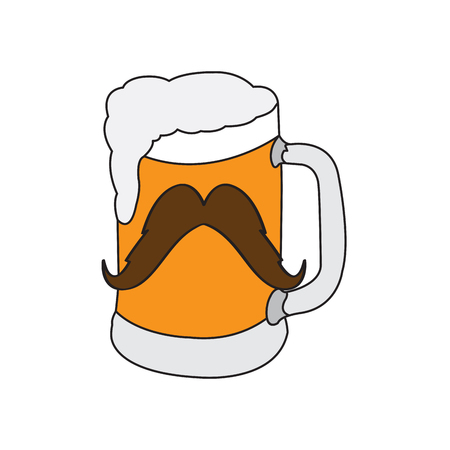 Hipster beer icon