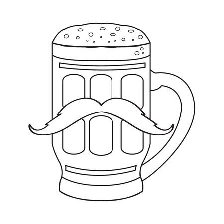 Hipster beer outline