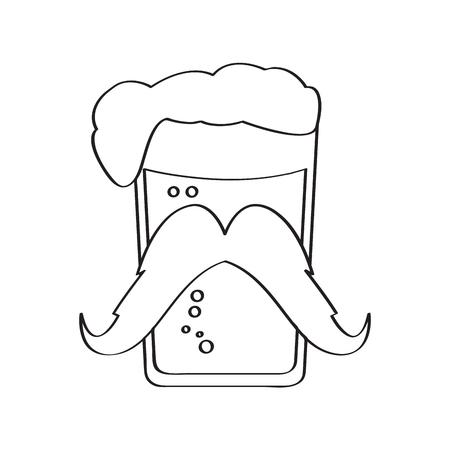 Hipster beer outline Çizim