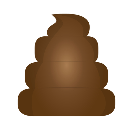 Isolated poop icon Vettoriali