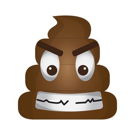 Angry poop emoji 向量圖像