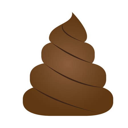 Isolated poop icon Çizim