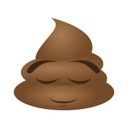Poop emoji sleeping