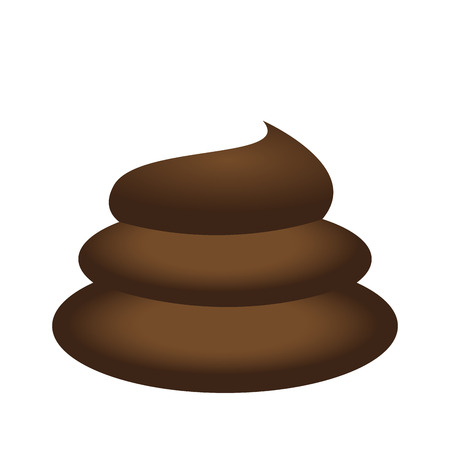 Isolated poop icon 向量圖像