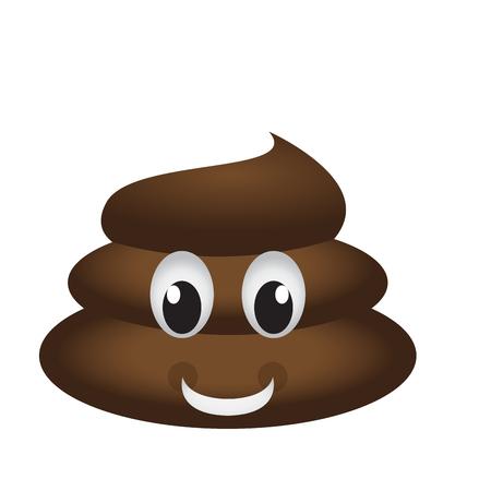 Happy poop emoji Illustration