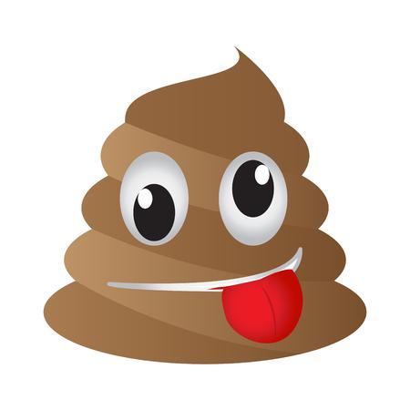 Crazy poop emoji