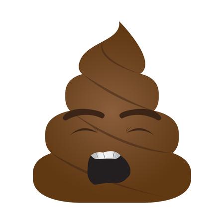 Poop emoji yawning Ilustração