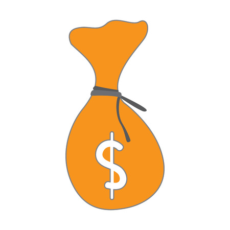 Isolated moneybag icon