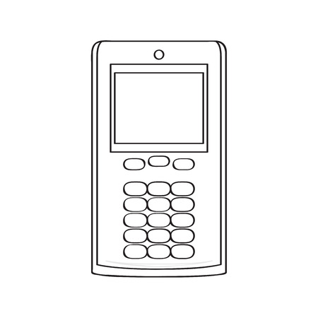 Isolated old cellphone icon. Vector illustration design Çizim