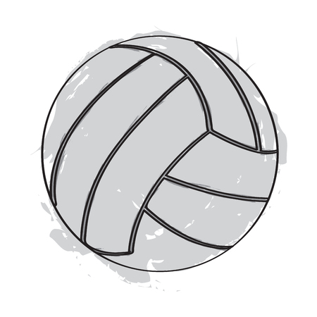 Sketch of a volleyball ball
