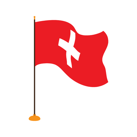 Isolated flag of Switzerland Vectores