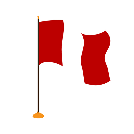 Isolated flag of Peru Illustration