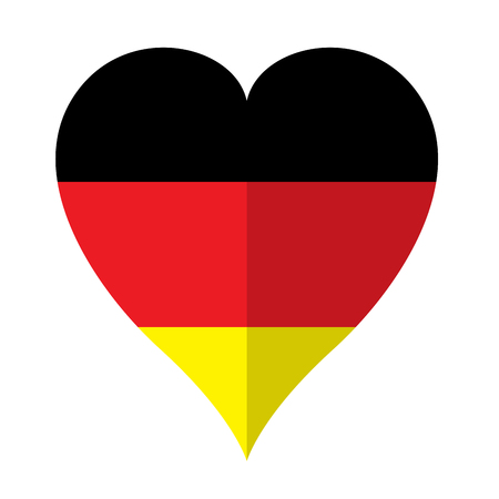 Isolated flag of Germany on a heart shape. Vector illustration design