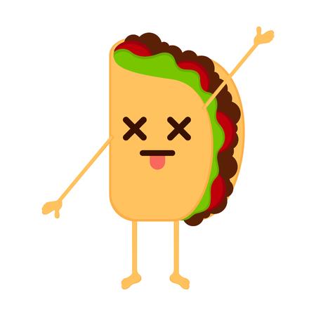 Isolated dead taco emote. Vector illustration design 矢量图像