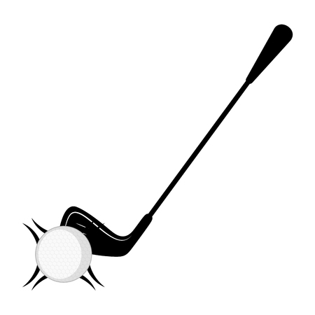 Golf club and a ball icon. Vector illustration design